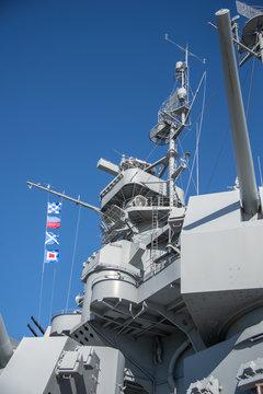 US Navy Battleship, USS Alabama in Mobile, Alabama.