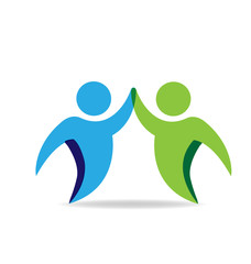 Handshake business hi peope vector icon logo