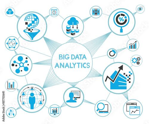 Big Data Data Analytics Network Diagram Stock Image And Royalty