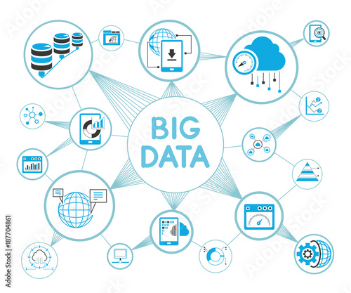 Big data data analytics network diagram stock image and royalty big data data analytics network diagram ccuart Image collections