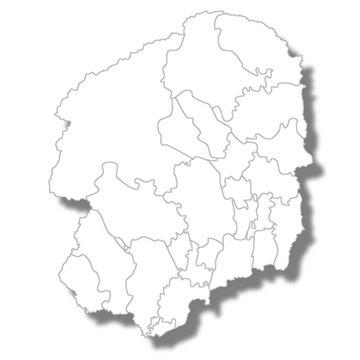 栃木 地図 白 アイコン