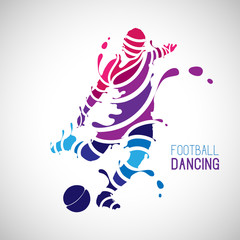 splash football (soccer) dancing