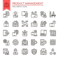 Product Management , Thin Line and Pixel Perfect Icons.