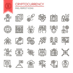 Cryptocurrency Elements , Thin Line and Pixel Perfect Icons.