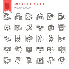 Mobile Application , Thin Line and Pixel Perfect Icons.
