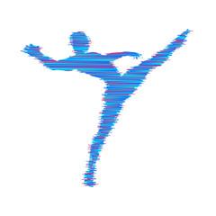 Gymnast. Man is posing and dancing. Sport symbol. Design element. Vector illustration.