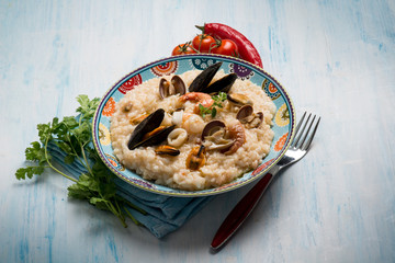 seafruit risotto