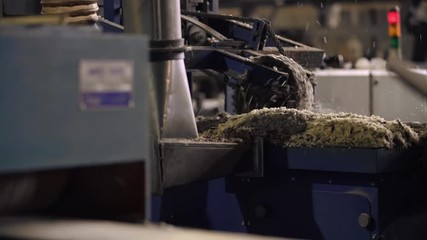 Wall Mural - Milling machine at sawmill, wood industry