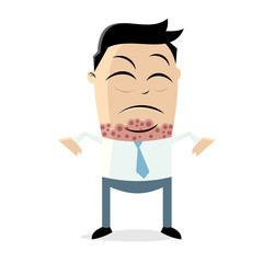 allergic reaction clipart