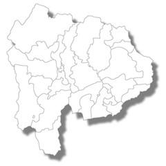 山梨 地図 白 アイコン