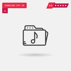 music folder vector icon