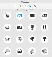 post service icon set