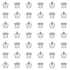 Seamless pattern royal crown