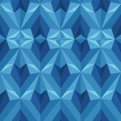 Low Poly Heart Seamless Pattern