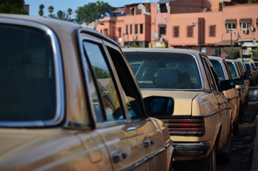 Taxi in Marrakech, Morocco