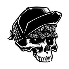 Skull artwork t-shirt design art print