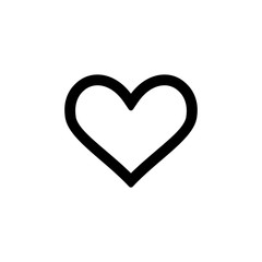 Heart icon for simple flat style ui design