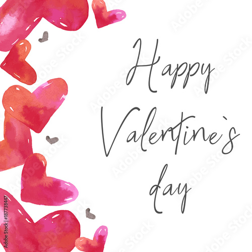 Love Clipart San Valentine S Day Card Card Template Watercolor
