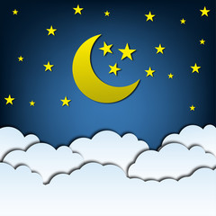 Night sky. The moon and the stars. Beautiful. Space. For your design.