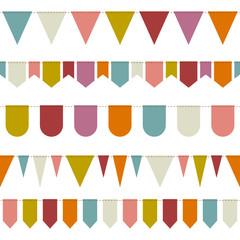 5 Seamless Festoons Retro Colour