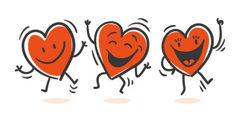 Hearts jumping