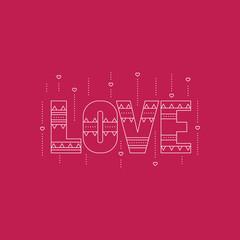 Love line icon