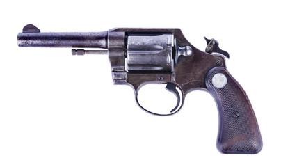 .38 Revolver hand gun isolated on white background