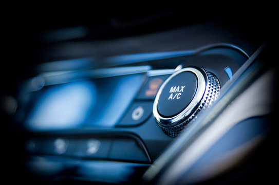 Air conditioning button inside a car