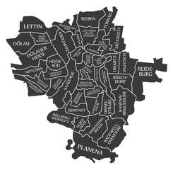 Halle city map Germany DE labelled black illustration