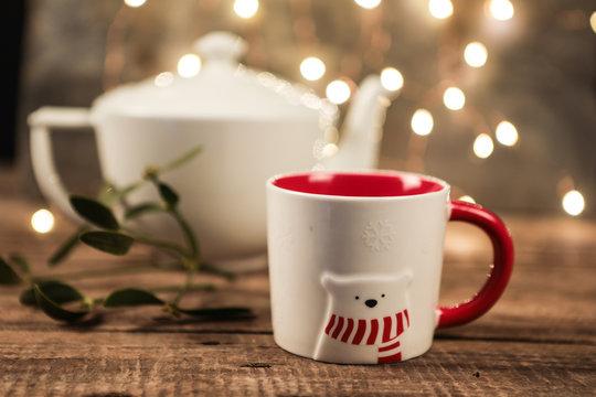 Thé et sucre d'orge Noël