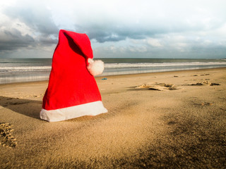 Merry Christmas postcard from the beach