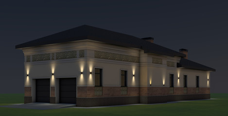 Guest house with garage