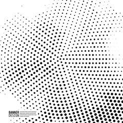 Monochrome halftone pattern dot background