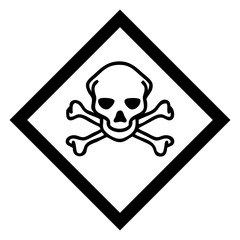 Hazardous icon of toxic from international ghs system