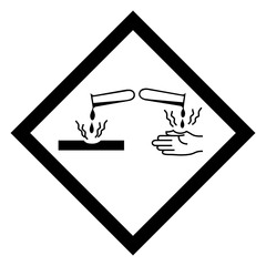 Hazardous icon of corrosive from international ghs system