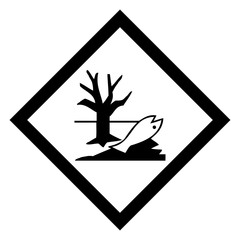 Hazardous icon of environmental hazard from international ghs system