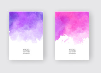 Watercolor design banners