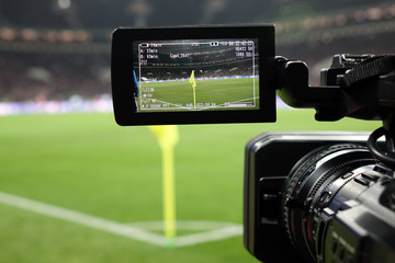 Live broadcast of a football match.