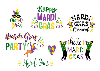 Mardi Gras. Vector design element for carnival concept