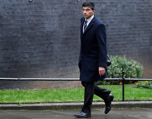 Nikhil Rathi CEO of the London Stock Exchange UK Division arrives at 10 Downing Street in London