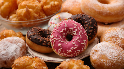 assorted donut and pastry