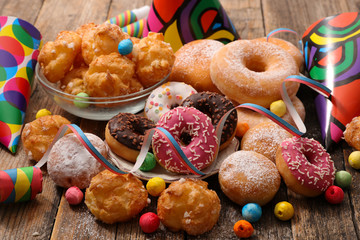 assorted pastry for carnival decoration