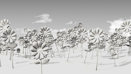Ambient Occlusion Psychedelic Flower Field