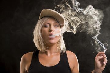 dance hall rock star woman smoking