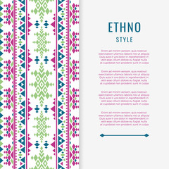 Peruvian aztec or boho style mexican texure banner