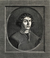 Nicolaus Copernicus, renaissance mathematician and astronomer, who formulated new model of the universe, engraving by Nicolaus Dandelau (from Spamers Illustrierte  Weltgeschichte, 1894, 5[1], 403)