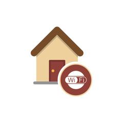 Home Wifi sign. Wi-fi symbol. Wireless Network icon. Wifi zone.