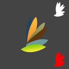 leaf colorful logo