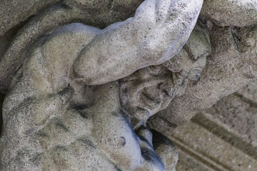 Detail from the old facade in Bergamo