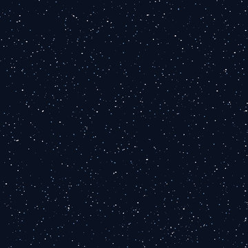 Starry sky seamless pattern, white and blue dots in galaxy and stars style - repeatable background. Galaxy background of starry night sky, space repeat seamless